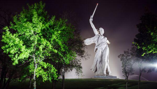 Скульптура Родина-мать зовет! на территории Историко-мемориального комплекса Героям Сталинградской Битвы