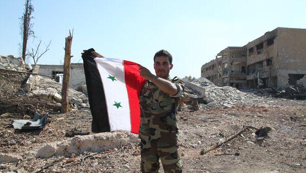 Сирийский солдат в Алеппо. Архивное фото