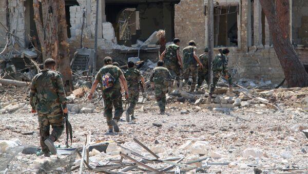 Сирийская армия освободила от боевиков территорию военных училищ в Алеппо. Архивное фото