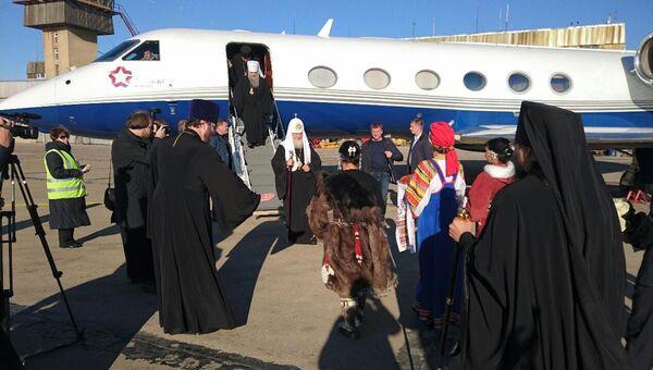 Встреча патриарха Московского и всея Руси Кирилла в аэропорту Певека