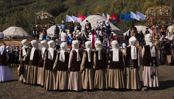 Участники Всемирных игр кочевников-2016
