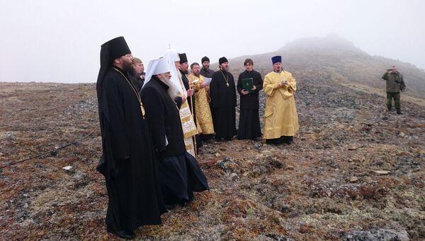 Патриарх Кирилл на острове Ратманова