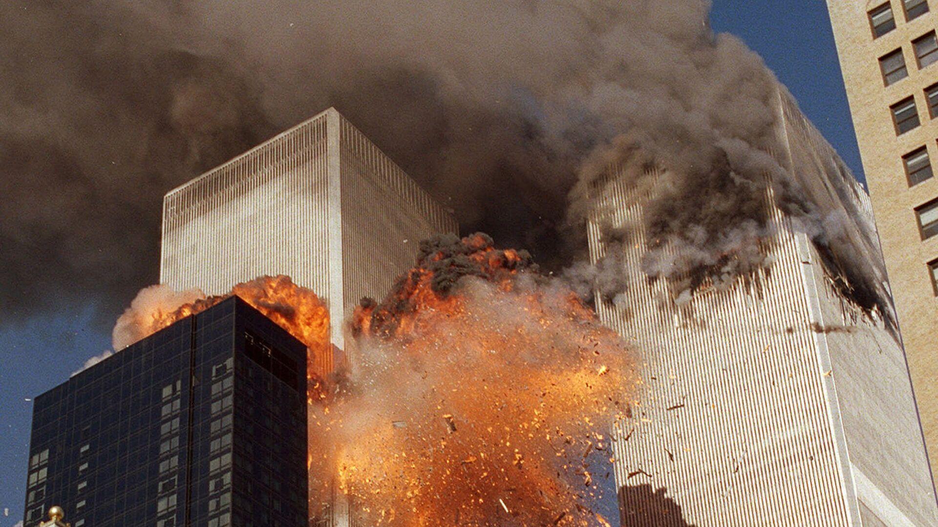Во время теракта 11 сентября 2001 года в Нью-Йорке - РИА Новости, 1920, 11.09.2020