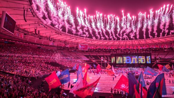 Церемония закрытия XV летних Паралимпийских игр 2016 в Рио-де-Жанейро. 19 сентября 2016