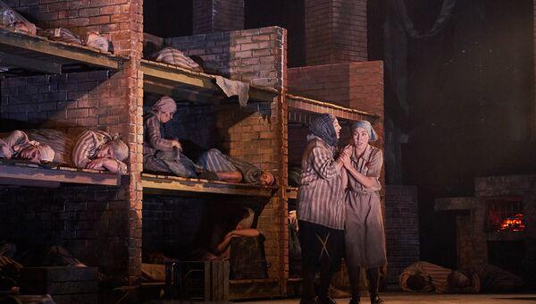Сцена из оперы Пассажирка композитора Моисея Вайнберга