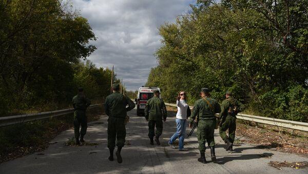 Обмен военнопленными между ДНР, ЛНР и Украиной в городе Счастье. Архивное фото