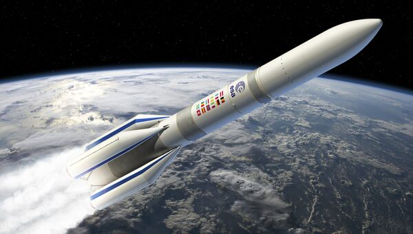 Новая европейская ракета-носитель Ariane-6 на рисунке художника ESA