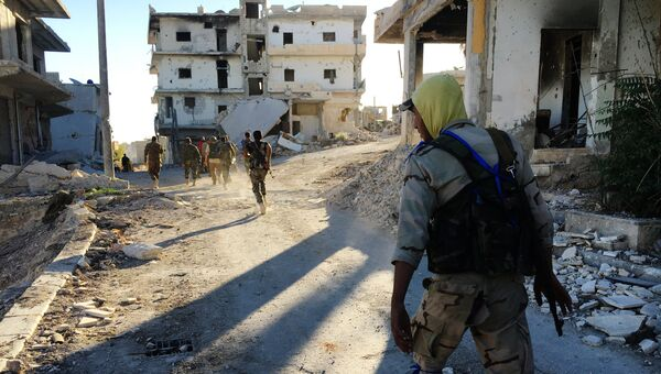 Бойцы сирийского ополчения в Алеппо. Архивное фото
