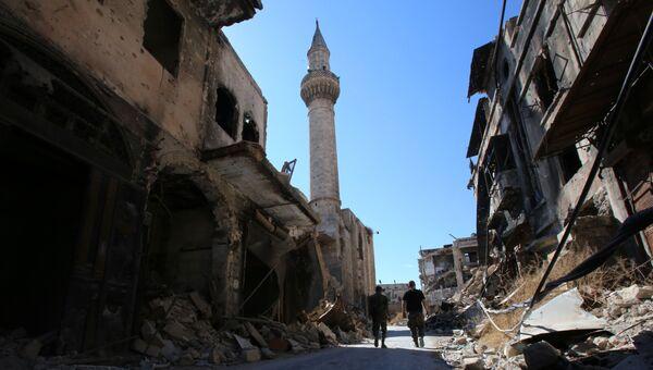 Солдаты сирийской армии в исторической части Алеппо. Сентябрь 2016. Архивное фото