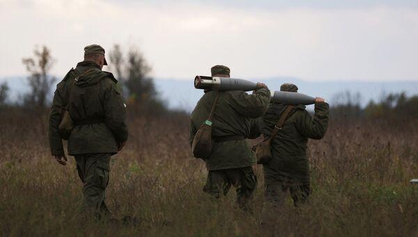 Военнослужащие танковых подразделений мотострелкового соединения. Архивное фото
