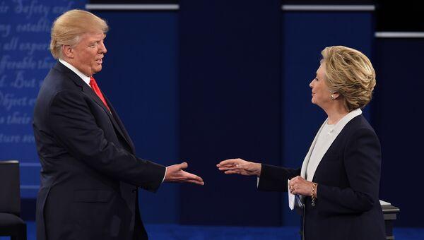 Дональд Трамп во время предвыборных дебатов. 9 октября 2016