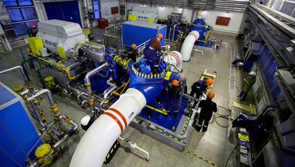 Ремонтные работы в насосной станции нефтеперекачивающей станции НПС-21 системы ВСТО компании Транснефть. Архивное фото