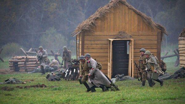 Реконструкция битвы за Москву. Архивное фото