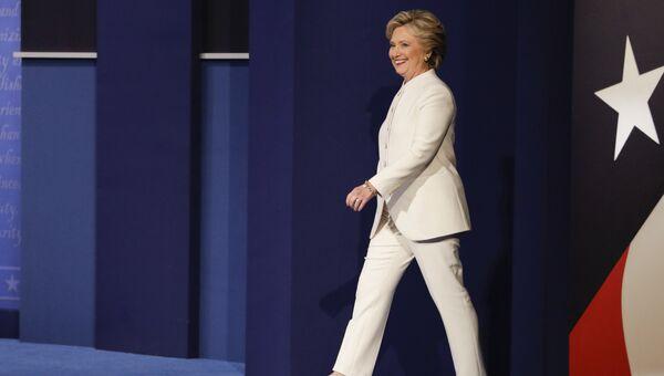 Хиллари Клинтон на третьих теледебатах. 20 октября 2016 года. Архивное фото