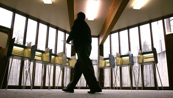 Избирательный участок в Сиэтле, США. Архивное фото