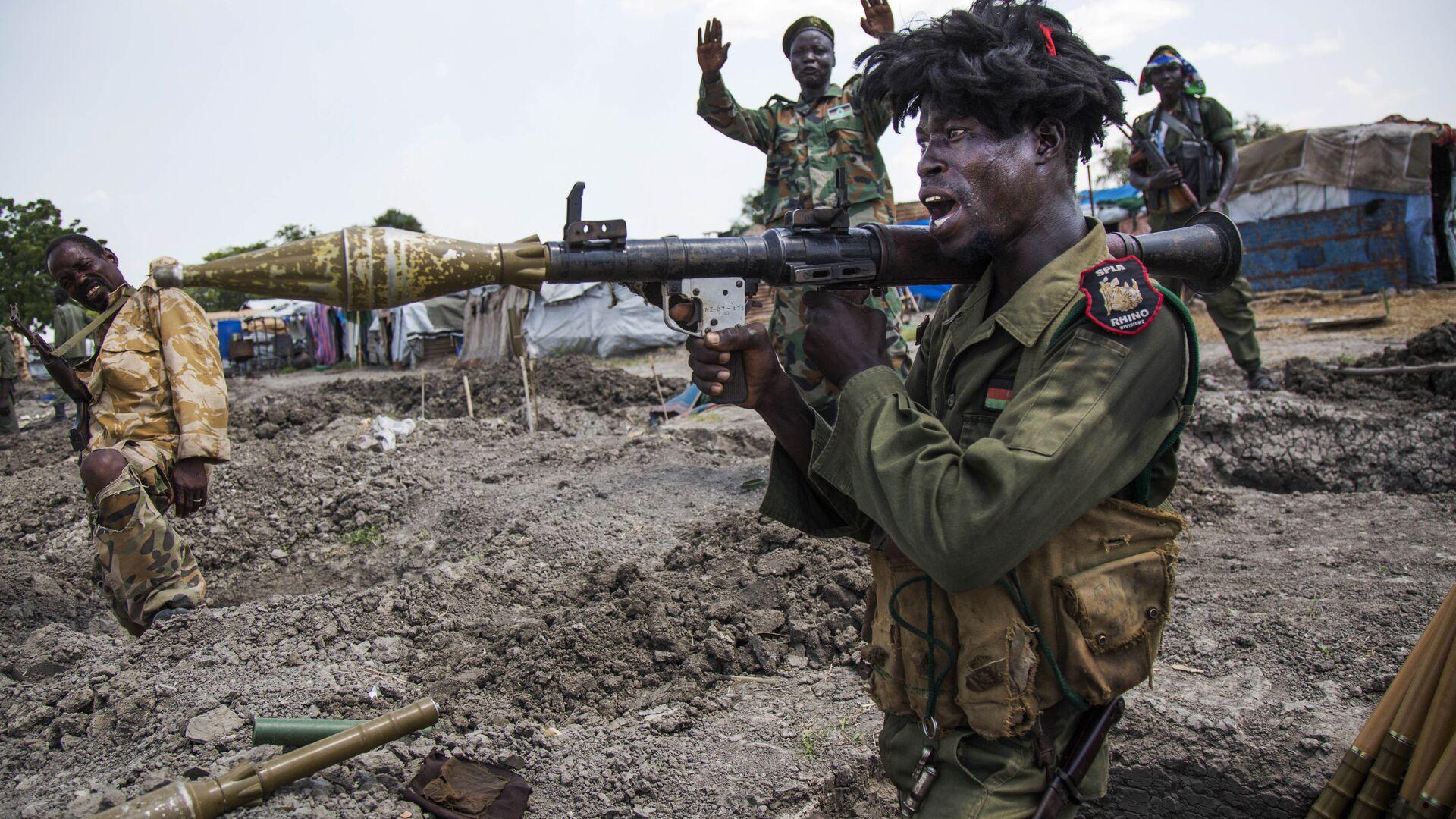 Солдат Народной армии освобождения Судана. 16 октября 2016 - РИА Новости, 1920, 28.04.2021