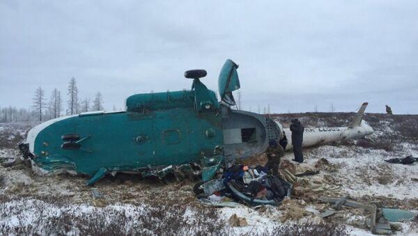 Крушение вертолета Ми-8 на Ямале. Архивное фото