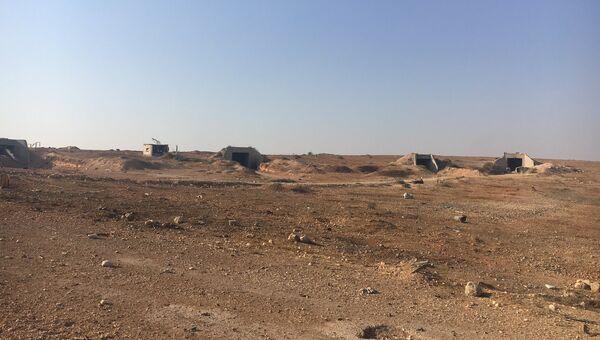 Освобожденная территория воинской части ПВО Сирии на юге алеппо. Архивное фото
