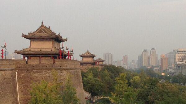 Город Сиань в провинции Шэньси. Архивное фото