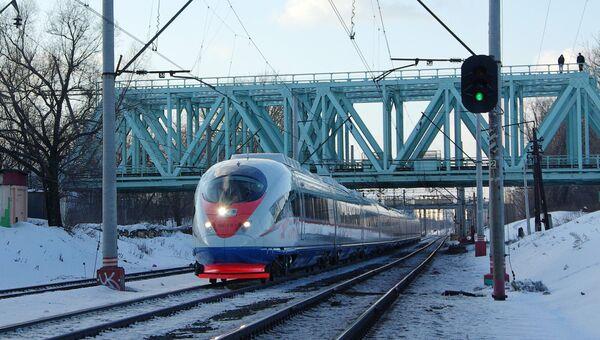Поезд Сапсан из Москвы в Санкт-Петербург