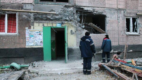 Жилой дом, пострадавший в результате обстрела украинскими силовиками. Архивное фото