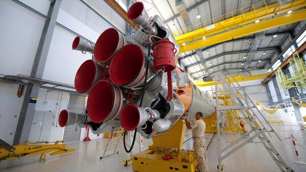 Российская ракета-носитель Союз-СТ на космодроме Куру во Французской Гвиане
