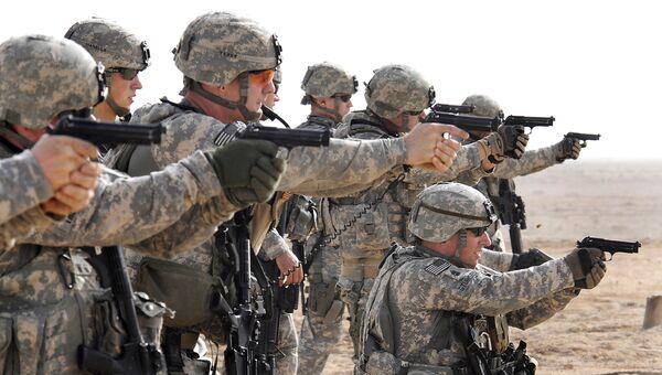 Американские военные во время тактических учений в Басре, Ирак. Архивное фото