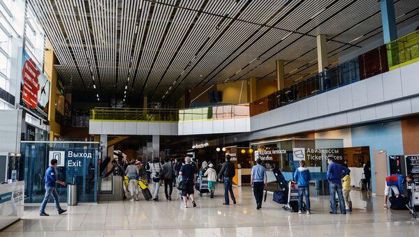 Вестибюль в аэропорту Кольцово в Екатеринбурге. Архивное фото