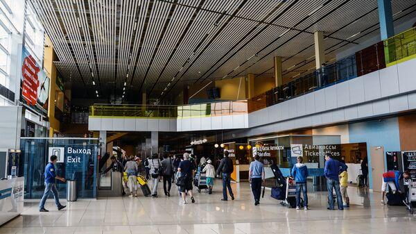 Вестибюль в аэропорту Кольцово в Екатеринбурге