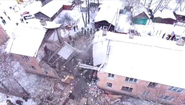 Взрыв газа в жилом доме в Иваново: разбор завалов и эвакуация пострадавших