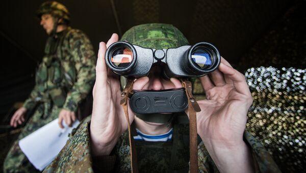 Российские военнослужащие во время учений. Архивное фото