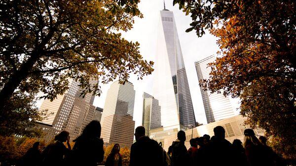 Здания Всемирного торгового центра в Нью-Йорке
