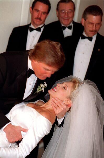 Свадьба Дональда Трампа в Нью-Йорке. 1992 год