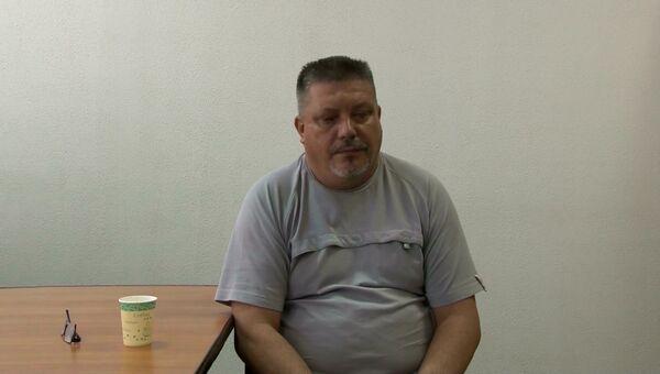 Допрос задержанных в Севастополе украинских диверсантов. Оперативная съемка