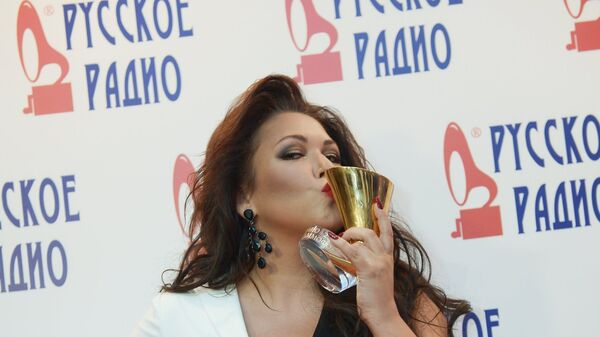 Певица Ирина Дубцова на XXI Церемонии вручения национальной музыкальной премии Золотой Граммофон