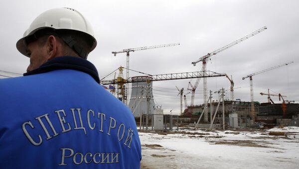 Строительная площадка Ленинградской атомной электростанции-2. Архивное фото