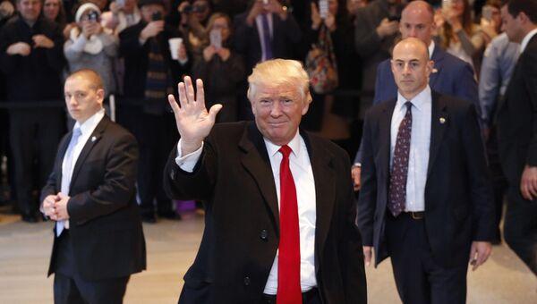 Избранный президент США Дональд Трамп. 22 ноября 2016 года
