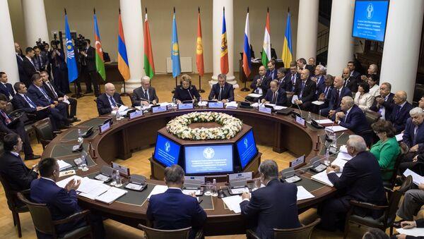 На заседании Совета Межпарламентской ассамблеи государств - участников Содружества Независимых Государств (СНГ) в Санкт-Петербурге. Архивное фото