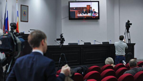 Допрос Виктора Януковича в режиме видеоконференции в качестве свидетеля по делу о беспорядках в Киеве в феврале 2014 года