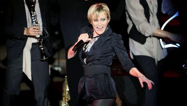 Французская певица Патрисия Каас на 45-м Международном фестивале Карфагена, Тунис