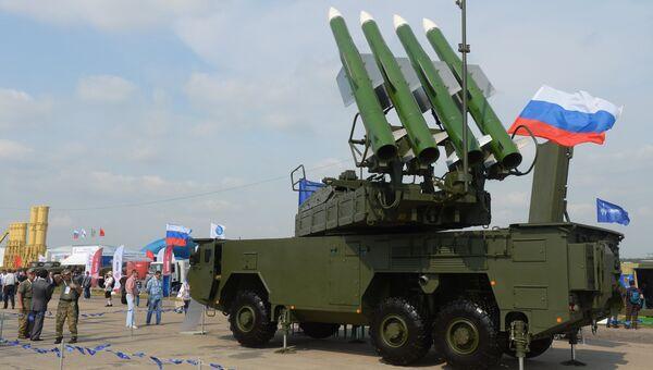 Зенитный ракетный комплекс средней дальности ЗРК БУК-М2Э. Архивное фото
