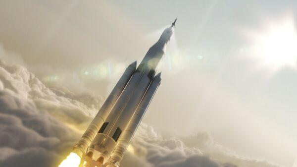 Так художник представил себе корабль NASA для полета на Марс
