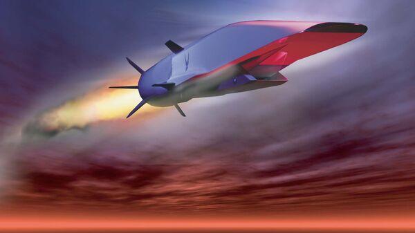 Графическое изображение разрабатываемой в США гиперзвуковой крылатой ракеты X-51A Waverider
