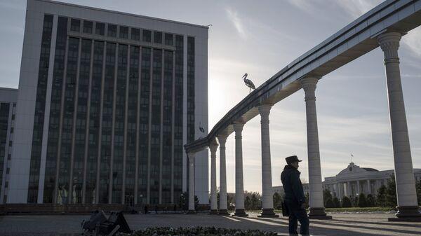 Здание министерства финансов Узбекистана в Ташкенте. Архивное фото.