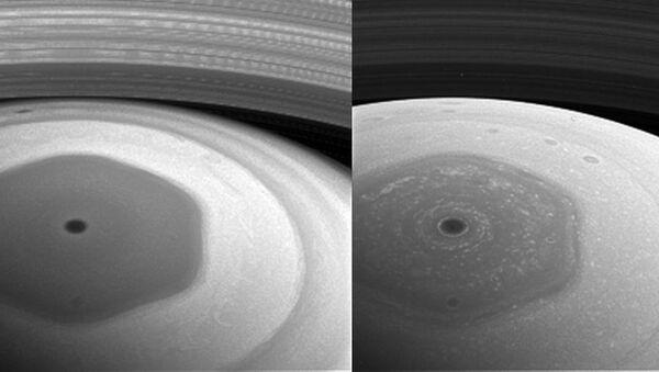 Фотография Сатурна, полученная Кассини на новой орбите