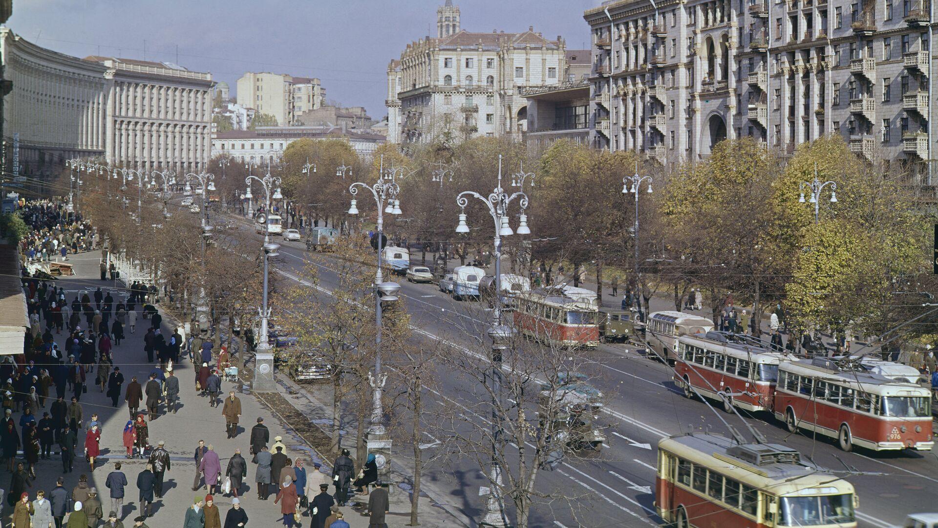 Улица Крещатик в Киеве - РИА Новости, 1920, 13.03.2021