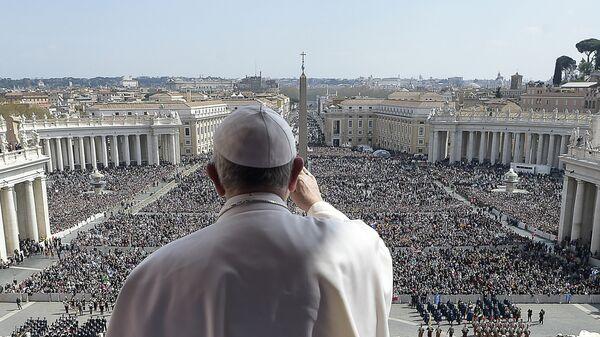 Папа римский Франциск в Ватикане