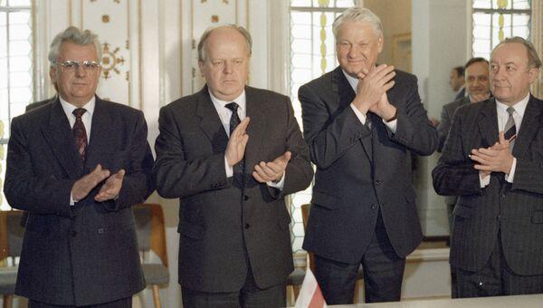 Подписание Соглашения о создании Содружества Независимых Государств в Беловежской пуще. 1991 год