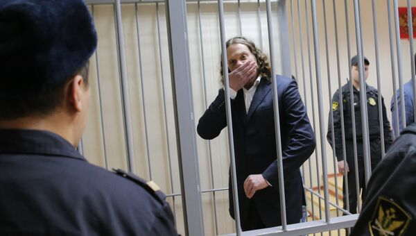 Бизнесмен Сергей Полонский перед началом заседания в Пресненском суде города Москвы. Архивное фото