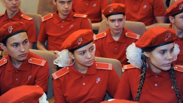 Участники Всероссийского движения Юнармия. Архивное фото